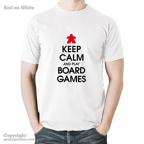 Keep Calm and Play Board Games White Men's T-Shirt