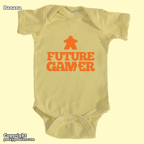 Future Gamer Baby Onesies / Infant Bodysuits (Orange Letters)