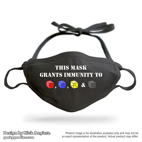 This Mask Grants Immunity to (Cubes) Adjustable Cloth Face Mask