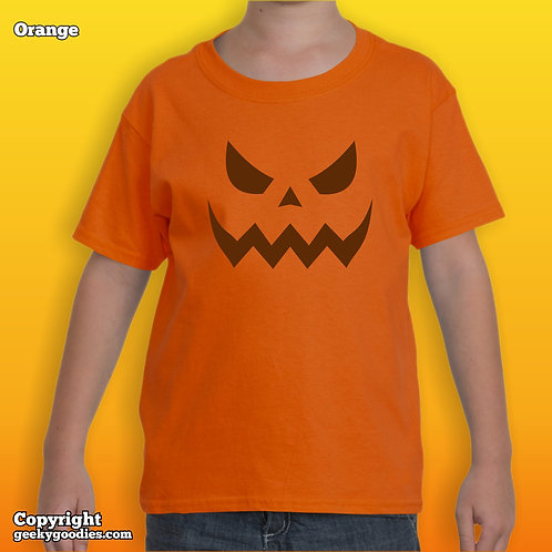 Scary Halloween Pumpkin Kids T-shirts