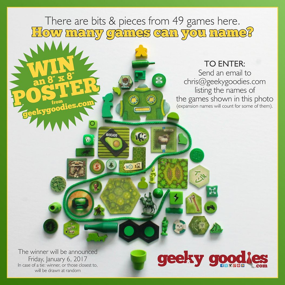 "#HolidayContestAlert Win an 8"" x 8"" POSTER of your choice from GeekyGoodies.com."