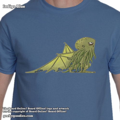Bored Cthulhu from Bored Online? Board Offline! Mens/Unisex T-shirt