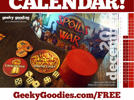 FREE Board Game Calendar for December 2018