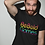 Thumbnail: Be Bold Games Rainbow Logo Mens/Unisex Black T-shirts
