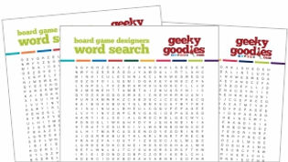Geeky Goodies FREE Board Game Word Search Puzzle Game