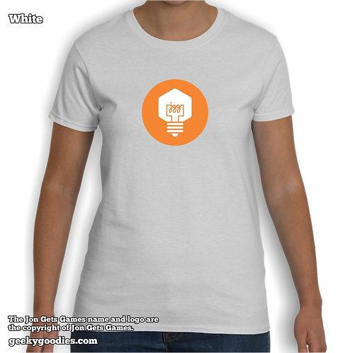 JonGetsGames Women's White T-shirt