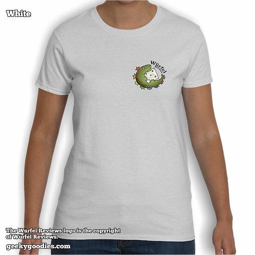 Würfel Reviews (Small Logo/Pocket-Size) Women's White T-shirt