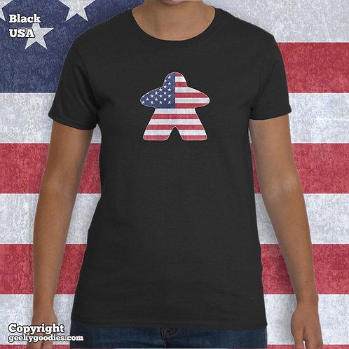 Meeple Flag Ladies T-shirts