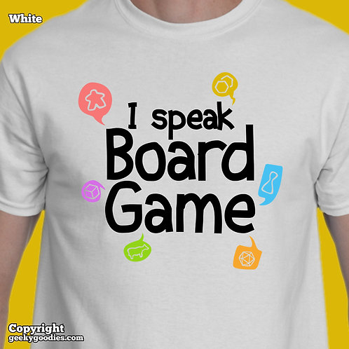 I Speak Board Game Men's/Unisex White T-shirts