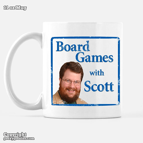 Board Games With Scott Mug (Retro/Distressed Look)