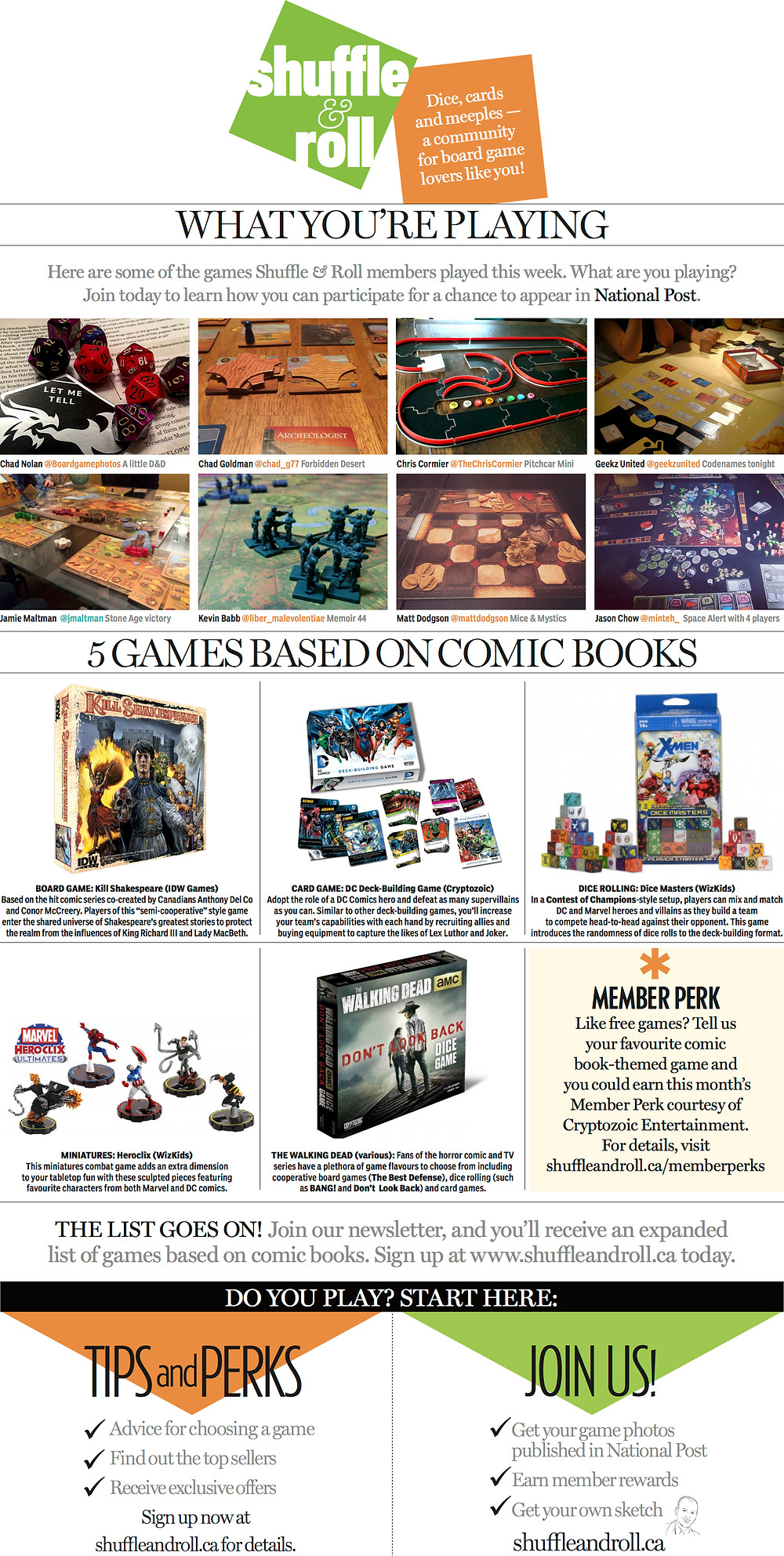 Shuffle & Roll | National Post | Board Game Photos