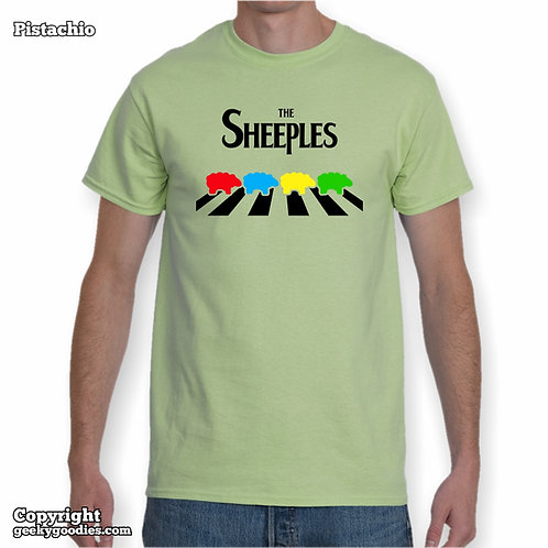 The Sheeples of Abbey Road Men's/Unisex T-Shirt (Light Colours)