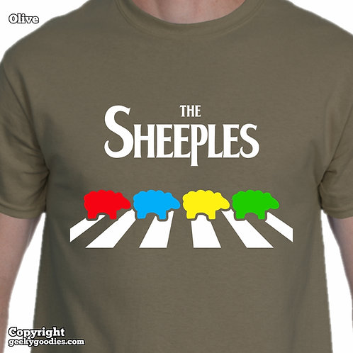 The Sheeples of Abbey Road Men's/Unisex T-Shirt (Dark Colours)