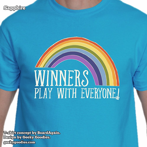 Winners Play With Everyone Men's/Unisex T-shirts (Dark Colors)