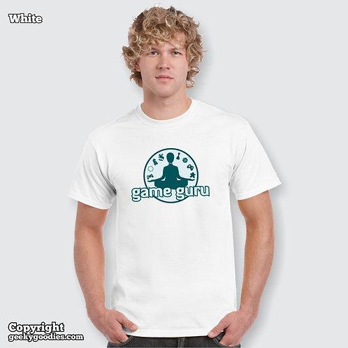 Game Guru Mens/Unisex White T-shirt (Full  Version)