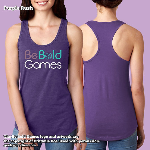 Be Bold Games Logo Ladies' Racerback Tank Tops