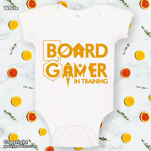 Board Gamer in Training Baby Onesies / Infant Bodysuits