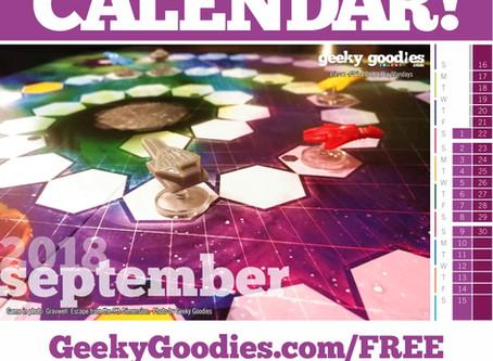 FREE Board Game Calendar for September 2018