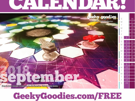 FREE Board Game Calendar for September 2018