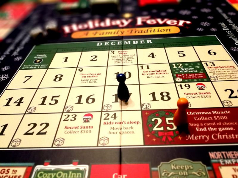 Holiday Fever - the end game has players racing through the last 25 days of the month