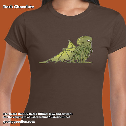 Bored Cthulhu from Bored Online? Board Offline! Women's FITTED Shirts