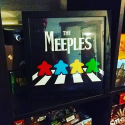 The Meeples of Abbey Road Print