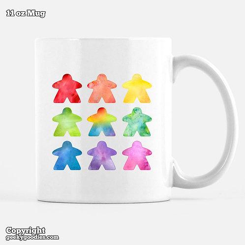 The Watercolor Meeple Coffee Mugs