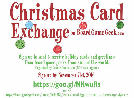 LAST DAY to sign-up for the Christmas Card Exchange on BoardGameGeek.com!