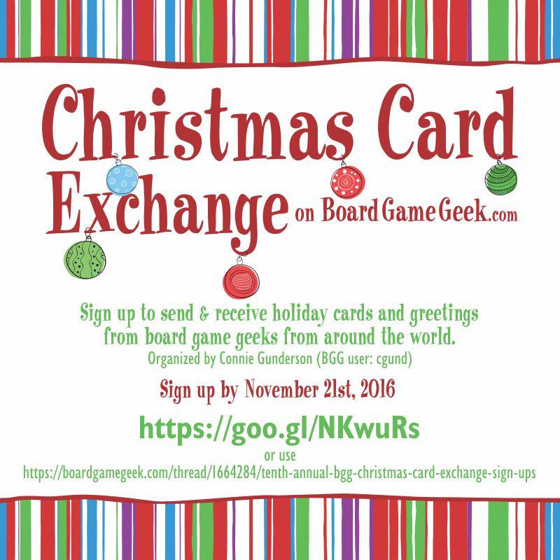 Board Game Geek Christmas Card Exchange