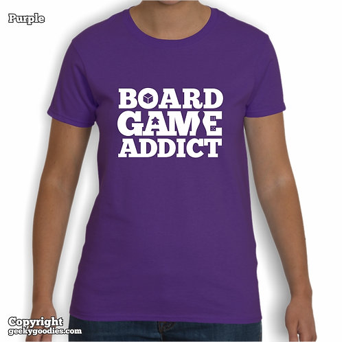 Board Game Addict Shirt Womens T-shirts