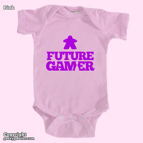 Future Gamer Baby Onesies / Infant Bodysuits (Purple Letters)