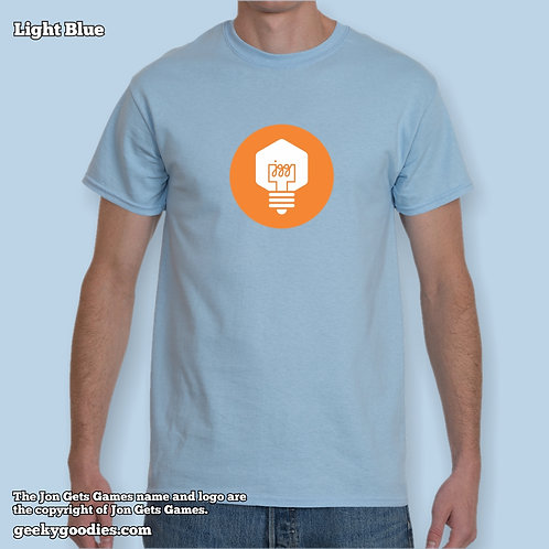 JonGetsGames (Orange Logo) Mens/Unisex T-shirt (Light Colors)