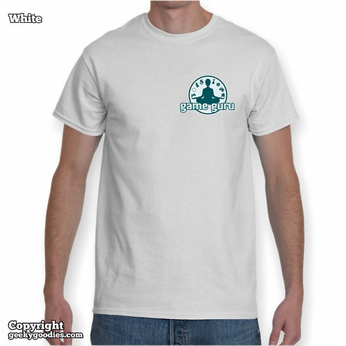 Game Guru Mens/Unisex White T-shirt (Small Version)