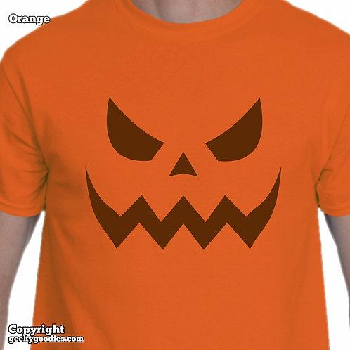 Scary Halloween Pumpkin Mens/Unisex T-shirts