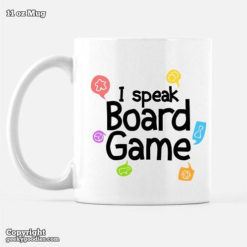 I Speak Board Game Mugs for Coffee and Tea