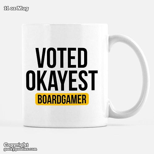 Voted Okayest Boardgamer Mug