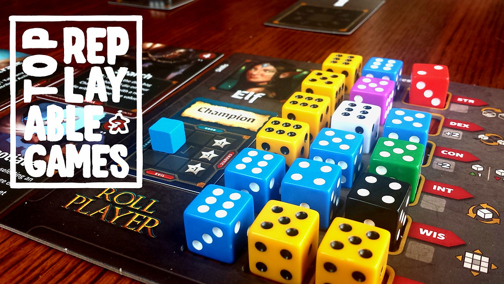 Roll Player is an incredibly thematic dice game where the luck of your rolling plays a very small part in how well you do.
