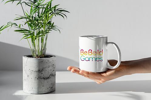 Be Bold Games Rainbow Logo Mugs for Coffee and Tea