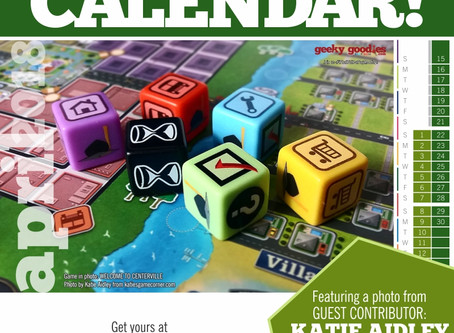 FREE Board Game Calendar for April 2018