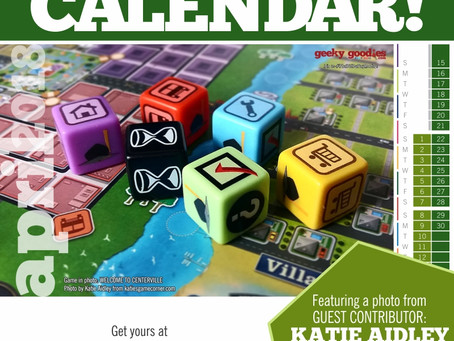 FREE Board Game Calendar for April 2018