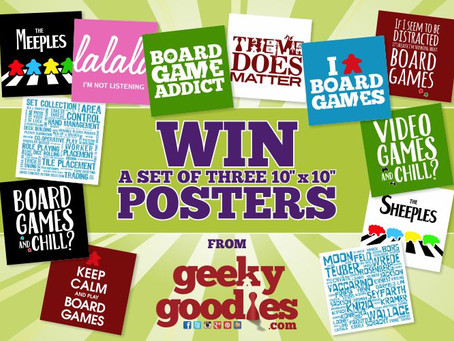 Contest Alert:  Win a Set of 3 Posters for Your Game Room