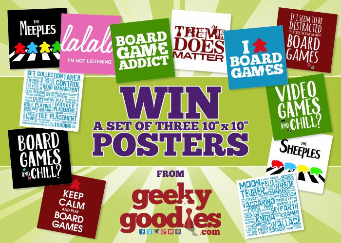 "#ContestAlert Win a set of 3 10""x10"" Geeky Goodies posters. Contest by TheGiveawayGeek.com."