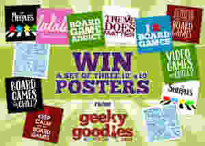 """#ContestAlert Win a set of 3 10""""x10"""" Geeky Goodies posters. Contest by TheGiveawayGeek.com."""