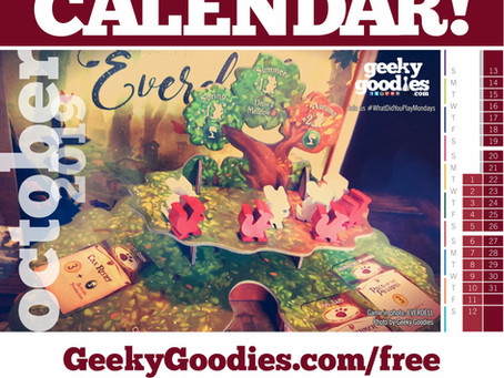 FREE Board Game Calendar for October 2019