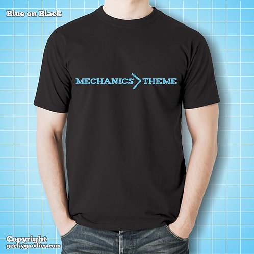Mechanics > (greater than) Theme Black Tee