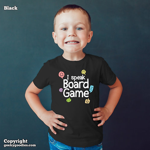 I Speak Board Game Children's T-shirts