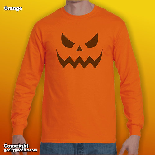 Scary Halloween Pumpkin Long Sleeve Shirts