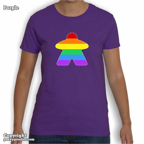 Rainbow (Pride Colors) Meeple Women's T-Shirt