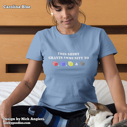 This Shirt Grants Immunity to (Cubes) Ladies T-shirt