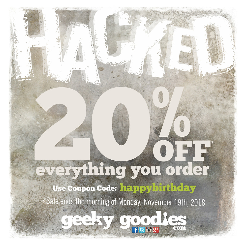 HACKED SALE!  Get 20% OFF Board Game Tshirts and Geeky Gifts at GeekyGoodies.com | Geeky Goodies | Board Game T-shirt Sale